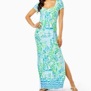 Whisper Blue Beach Wynn Maxi Dress